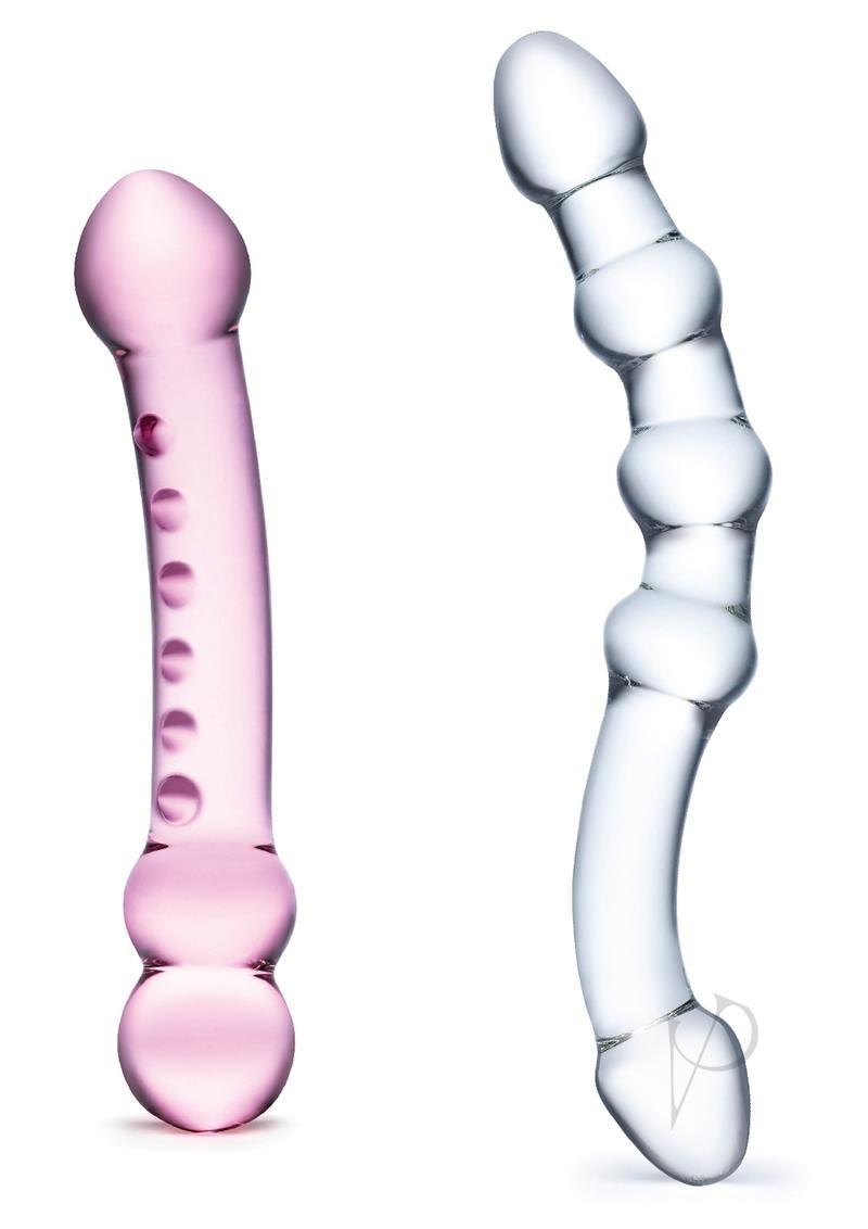 Glas Double Pleasure Glass Dildo Set 2pc
